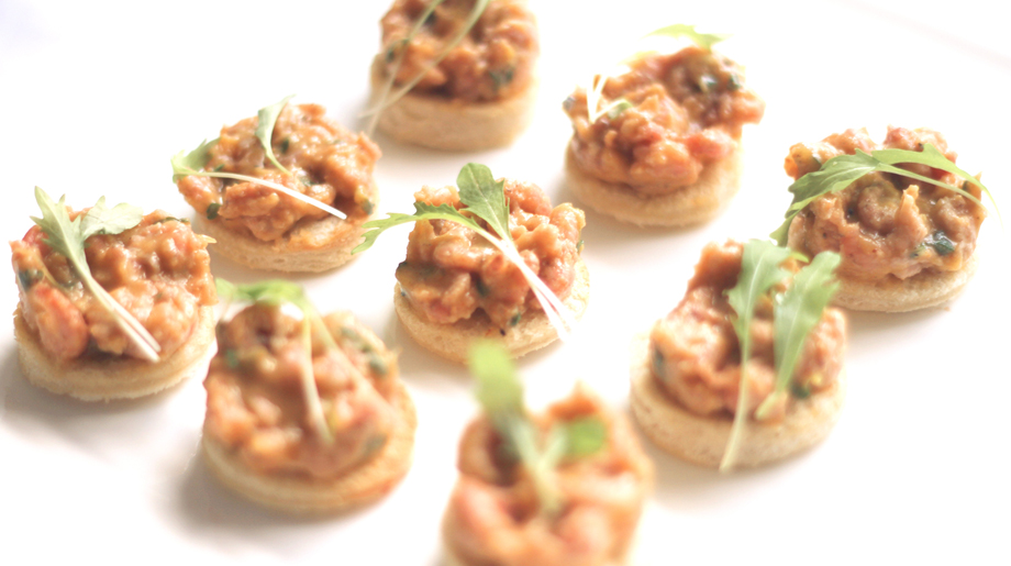 Potted shrimp on toast